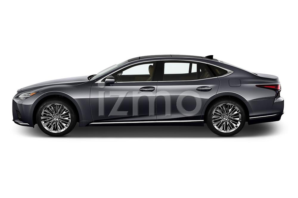 Car Driver side profile view of a 2021 Lexus LS 500 4 Door Sedan Side View