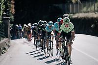 Davide Formolo (ITA/Cannondale-Drapac) leading the peloton<br /> <br /> Il Lombardia 2017<br /> Bergamo to Como (ITA) 247km