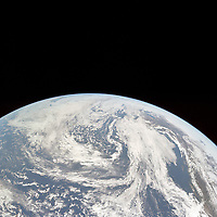 May 18, 1969 File Photo - <br /> Earth seen from Apollo 10 just after trans-lunar insertion