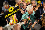 Baltimore, MD- May 16: Trainer Bob Baffert of Kentucky Derby runner up Bodemeister is swamped by reporters at the 137th Preakness Post Party at Pimlico Race Course in Baltimore, MD on 05/16/12. (Ryan Lasek/ Eclipse Sportswire)