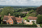 Goudhurst Kent Uk. Looking across the Weald of Kent. Typical housing in the countryside 2016 2010s UK
