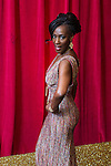 © Licensed to London News Pictures . 16/05/2015 .  The Palace Hotel , Manchester , UK . Jacqueline Boatswain . The red carpet at the 2015 British Soap Awards , The Palace Hotel , Oxford Road , Manchester . Photo credit : Joel Goodman/LNP