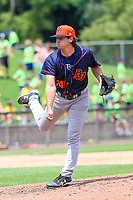 Bowling Green Hot Rods pitcher Phoenix Sanders (14) delivers a pitch during a Midwest League game against the Wisconsin Timber Rattlers on July 23, 2018 at Fox Cities Stadium in Appleton, Wisconsin. Wisconsin defeated Bowling Green 5-3. (Brad Krause/Four Seam Images)