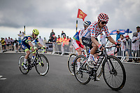 Nairo Quintana (COL/Arkéa Samsic) is among a group of dropped riders coming over the Mont Ventoux one final time (today).<br /> <br /> Stage 11 from Sorgues to Malaucène (199km) running twice over the infamous Mont Ventoux<br /> 108th Tour de France 2021 (2.UWT)<br /> <br /> ©kramon