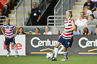Becky Sauerbrunn (4) of the United States (USA). The United States (USA) women defeated China PR (CHN) 4-1 during an international friendly at PPL Park in Chester, PA, on May 27, 2012.