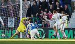 John Baird scores past Cammy Bell for the Raith Rovers winner