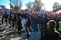 """Washington, DC - November 14, 2020: Thousands of people gather near the U.S. Supreme Court in Washington, DC November 14, 2020 for the """"Stop The Steal"""" rally in support of President Donald Trump.  (Photo by Don Baxter/Media Images International)"""