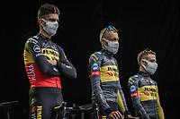 at the pre Tour teams presentation of the 108th Tour de France 2021 in Brest at le Grand Départ.