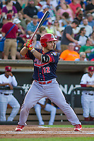 Peoria Chiefs catcher Chris Chinea (12) at bat during a Midwest League game against the Wisconsin Timber Rattlers on July 9, 2016 at Fox Cities Stadium in Appleton, Wisconsin. Peoria defeated Wisconsin 3-2. (Brad Krause/Four Seam Images)