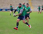 Joe Royal. Maori All Blacks Train. Suva, Fiji. July 9 2015. Photo: Marc Weakley