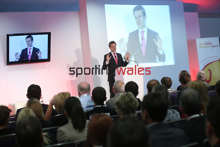 Tomos Dafydd<br /> Sport Wales Conference 2013<br /> Cardiff City Stadium<br /> 17.06.13<br /> ©Steve Pope