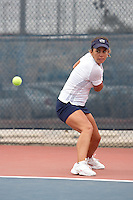 SAN ANTONIO, TX - February 15, 2009: The University of Texas-Pan American Broncos vs. The University of Texas at San Antonio Roadrunners Women's Tennis at the UTSA Tennis Center. (Photo by Jeff Huehn)