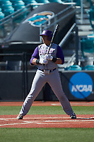 Andrew Bullock (36) of the Western Carolina Catamounts at bat against the Kennesaw State Owls at Springs Brooks Stadium on February 22, 2020 in Conway, South Carolina. The Owls defeated the Catamounts 12-0.  (Brian Westerholt/Four Seam Images)