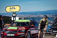 Mikel Nieve (ESP/Mitchelton-Scott) at the finish up Mont Aigoual<br /> <br /> Stage 6 from Le Teil to Mont Aigoual (191km)<br /> <br /> 107th Tour de France 2020 (2.UWT)<br /> (the 'postponed edition' held in september)<br /> <br /> ©kramon