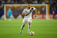 CARSON, CA - SEPTEMBER 15: Sebastian Lletget #17 of the Los Angeles Galaxy moves with the ball during a game between Sporting Kansas City and Los Angeles Galaxy at Dignity Health Sports Park on September 15, 2019 in Carson, California.