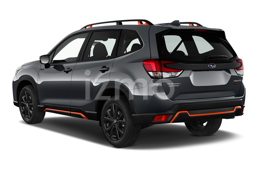 Car pictures of rear three quarter view of 2021 Subaru Forester e-Boxer-Sport 5 Door SUV Angular Rear