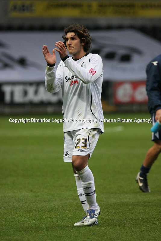 Pictured: Guillem Bauzà of Swansea City<br /> Re: Coca Cola Championship, Swansea City Football Club v Watford at the Liberty Stadium, Swansea, south Wales 09 November 2008.<br /> Picture by Dimitrios Legakis Photography (Athena Picture Agency), Swansea, 07815441513