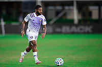 LAKE BUENA VISTA, FL - JULY 20: Ruan #2 of Orlando City SC dribbles the ball during a game between Orlando City SC and Philadelphia Union at Wide World of Sports on July 20, 2020 in Lake Buena Vista, Florida.