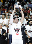 Real Madrid's Andres Nocioni celebrates the MVP in the Euroleague Final Match. May 15,2015. (ALTERPHOTOS/Acero)