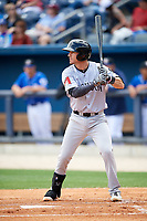 Jackson Generals second baseman Colin Walsh (8) at bat during a game against the Biloxi Shuckers on April 23, 2017 at MGM Park in Biloxi, Mississippi.  Biloxi defeated Jackson 3-2.  (Mike Janes/Four Seam Images)