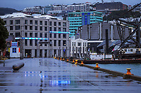 Wellington waterfront at 7.30am during Level 4 lockdown for the COVID-19 pandemic in Wellington, New Zealand on Friday, 27 August 2021.