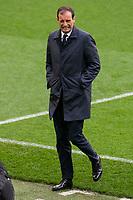 Juventus coach Massimiliano Allegri jump to field the day before Champions League match between Real Madrid and Juventus at Santiago Bernabeu Stadium in Madrid, Spain. April 10, 2018.  *** Local Caption *** © pixathlon<br /> Contact: +49-40-22 63 02 60 , info@pixathlon.de
