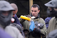 Pictured: Leon Britton. Tuesday 25 January 2011<br /> Re: Swansea City FC footballers and staff have spend a morning at Teamforce Paintball in Llangyfelach near Swansea south Wales.
