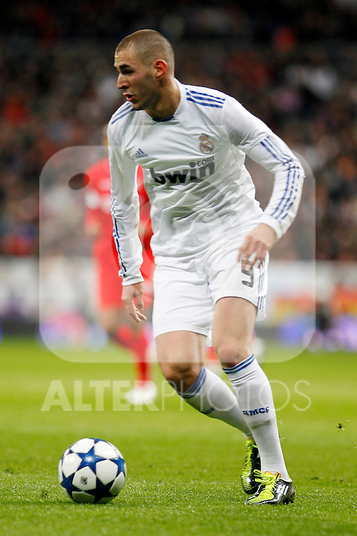 Real Madrid's Karim Benzema during Spanish King's Cup match.February 2,2011.(ALTERPHOTOS/Acero)
