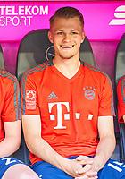 Lars Lukas MAI, FCB 15  Halbfigur ,  , Einzel, Portrait, Portraet, Einzel   <br /> FC BAYERN MUENCHEN - VFB STUTTGART 1-4<br /> Football 1. Bundesliga , Muenchen,12.05.2018, 34. match day,  2017/2018, , 28.Meistertitel, <br />   *** Local Caption *** © pixathlon