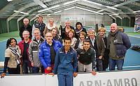 19-01-13, Tennis, Rotterdam, Wildcard for qualification ABNAMROWTT, Fabian van der Lans met fanclub
