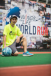 Wings for Life Ambassador and Basketball Player Yung Sheng Chen poses for a photograph during the Wings for Life World Run on 08 May, 2016 in Yilan, Taiwan. Photo by Victor Fraile / Power Sport Images