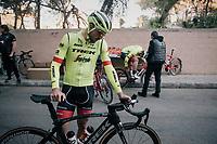 John Degenkolb (DEU/Trek-Segafredo) getting ready to roll out at Team Trek-Segafredo Mallorca training camp <br /> <br /> January 2018