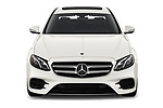 Car photography straight front view of a 2019 Mercedes Benz E-class 300 4 Door Sedan