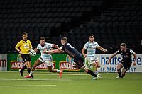 4th April 2021; Paris La Défense Arena, Nanterre, Paris, France; European Champions Cup Rugby, Racing 92 versus Edinburgh;  TEDDY THOMAS ( 14 - Racing ) held by M Bradbury ( 4 - Edinburgh )