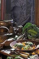 Europe/France/Auvergne/63/Puy-de-Dôme/Clermont-Ferrand: Chou farci de pigeon et son filet grillé - recette de Gérard Anglard