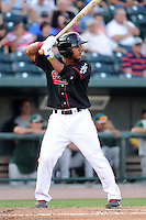 Great Lakes Loons outfielder Devin Shines (16) during a game against the Fort Wayne TinCaps on August 19, 2013 at Dow Diamond in Midland, Michigan.  Great Lakes defeated Fort Wayne 12-5.  (Mike Janes/Four Seam Images)