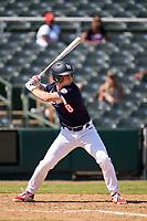 Cody Schrier (8) bats during the Baseball Factory All-Star Classic at Dr. Pepper Ballpark on October 4, 2020 in Frisco, Texas.  Cody Schrier (8), a resident of San Clemente, California, attends JSerra Catholic High School.  (Ken Murphy/Four Seam Images)