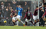 Jamie Walker celebrates the fourth goal for Hearts