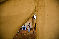 The health center in Nyori Refugee camp, South Sudan..Inside this camp MSF has set up a health facility with inpatient capacity and a pharmacy. This facility provides an average of 500 consultations a week, antenatal care, deliveries and treatment for malnutrition.
