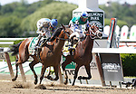 June 7, 2014: #5 Sweet Reason (left), Irad Ortiz Jr. up, wins the 84th running of the Grade I Acorn, one mile three year old fillies at Belmont Park , Elmont, NY Trainer is L. Gyarmati.  ©Joan Fairman Kanes/ESW/CSM