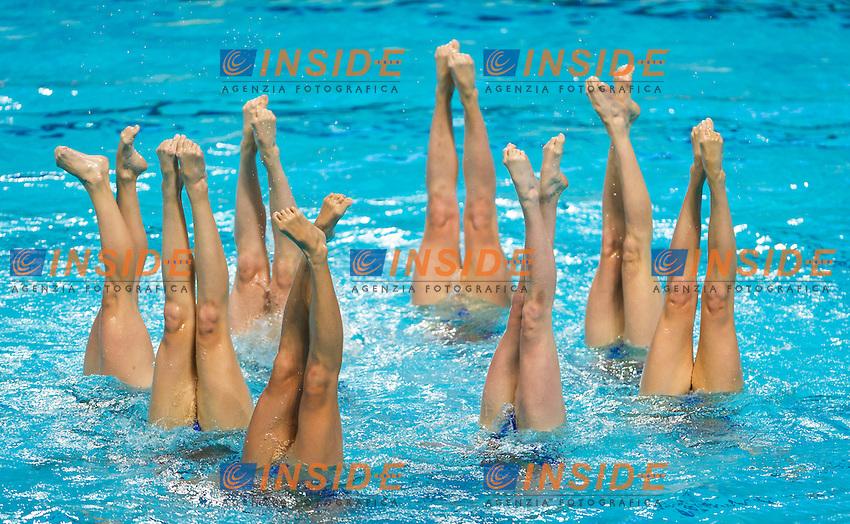 CAN - Canada<br /> BRISSON Gabriella FRAPPIER Annabelle<br /> HOLZNER Claudia MAULE Rebecca<br /> MORIN Marie-Lou NEALON Samantha<br /> SANDERS Lisa SAVARD Elizabeth<br /> SIMONEAU Jacqueline THOMAS Karine<br /> Day 9 01/08/2015<br /> XVI FINA World Championships Aquatics<br /> Synchro<br /> Kazan Tatarstan RUS July 24 - Aug. 9 2015 <br /> Photo Pasquale Mesiano/Deepbluemedia/Insidefoto