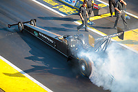Aug 17, 2019; Brainerd, MN, USA; NHRA top fuel driver Mike Salinas during qualifying for the Lucas Oil Nationals at Brainerd International Raceway. Mandatory Credit: Mark J. Rebilas-USA TODAY Sports