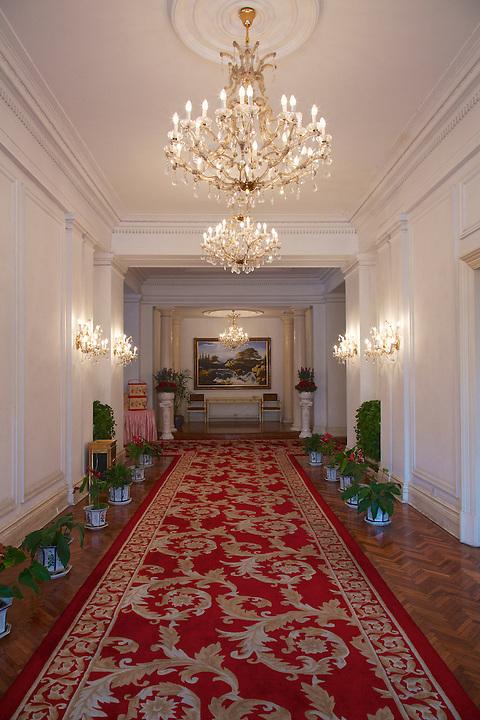 Interior Hallway, Nanjing (Nanking) Embassy.