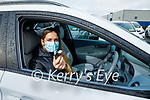 Siún Geaney sitting in her new Hyundai Kona electric car at Adams Garage Tralee on Monday