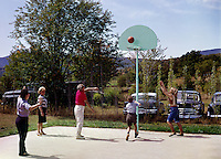 People playing basketball