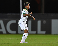 LAKE BUENA VISTA, FL - AUGUST 01: Andy Polo #7 of the Portland Timbers celebrates his goal during a game between Portland Timbers and New York City FC at ESPN Wide World of Sports on August 01, 2020 in Lake Buena Vista, Florida.