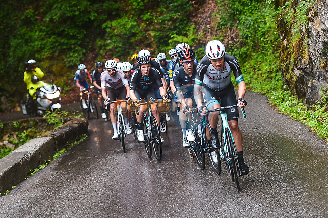 Christopher Juul Jensen (DEN/IRL) Team BikeExchange on the front of the peloton during Stage 8 of the 2021 Tour de France, running 150.8km from Oyonnax to Le Grand-Bornand, France. 3rd July 2021.  <br /> Picture: A.S.O./Charly Lopez | Cyclefile<br /> <br /> All photos usage must carry mandatory copyright credit (© Cyclefile | A.S.O./Charly Lopez)
