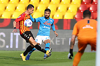 Lorenzo Insigne of SSC Napoli in action<br /> during the Serie A football match between Benevento Calcio and SSC Napoli at stadio Ciro Vigorito in Benevento (Italy), October 25th, 2020. <br /> Photo Cesare Purini / Insidefoto
