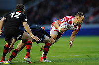Bill Meakes of Gloucester Rugby makes a break