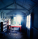 Dylan Thomas study interior  Laugharne Wales  CREDIT Geraint Lewis